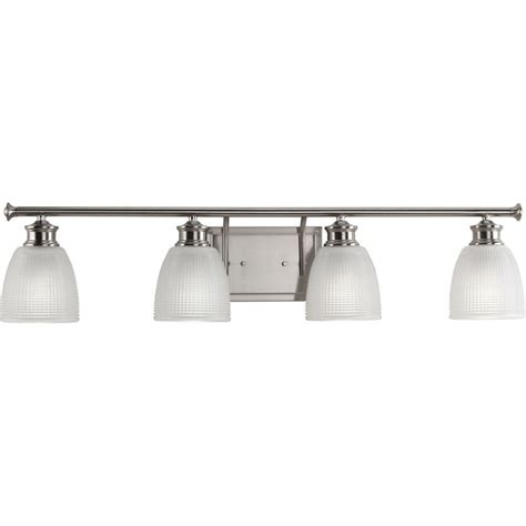 bathroom lighting collections progress lighting lucky collection 4 light brushed nickel