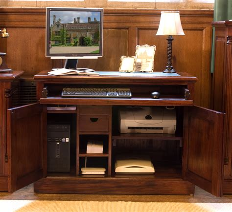 computer desk that hides everything computer desk hideaway hidden home office study pc laptop