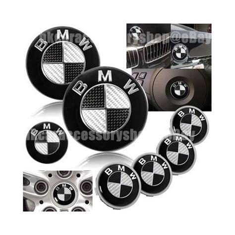 black and silver bmw emblem bmw black carbon fiber emblem trunk emblem wheel