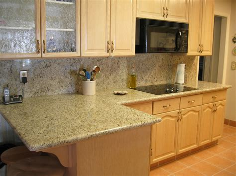 Home Depot Kitchen Backsplash Tiles by Giallo Ornamental Granite Installed Design Photos And