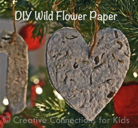 Make Your Own Seed Paper - wildflower paper ornaments