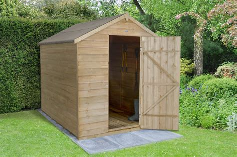 6x8 Garden Shed Overlap Pressure Treated 6x8 Apex Shed No Window