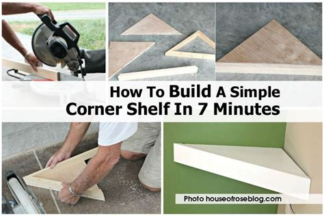 How To Build A Simple Shelf by How To Build A Simple Corner Shelf In 7 Minutes