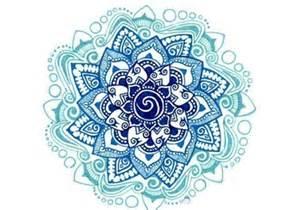 Blue Lotus Designs Blue Ink Lotus Mandala Flower Design