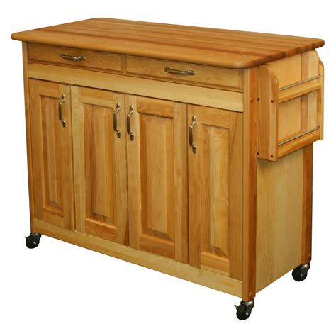 Butcherblock Kitchen Island Catskill Butcher Block Kitchen Island W Spice Rack