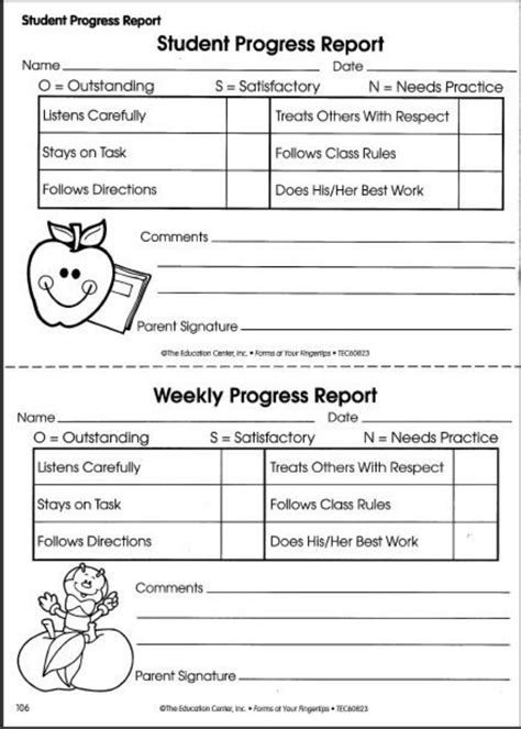 Student Daily Progress Report Template Student Progress Reports Keep Parents Informed Of Their