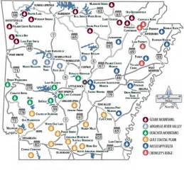 Arkansas State Parks Map by Ozark Mountain Region Of The Arkansas State Park System