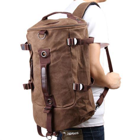 canvas duffle backpack canvas rucksack laptop shoulder bag duffle backpack