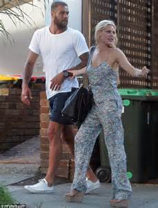 sophie monk clings to lance buddy franklin on outing in