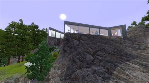 cliff side house the sims 3 building a cliffside house youtube