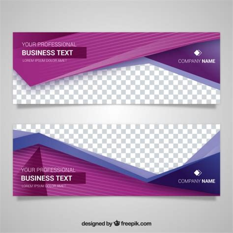 free banner layout design geometric banner vectors photos and psd files free download