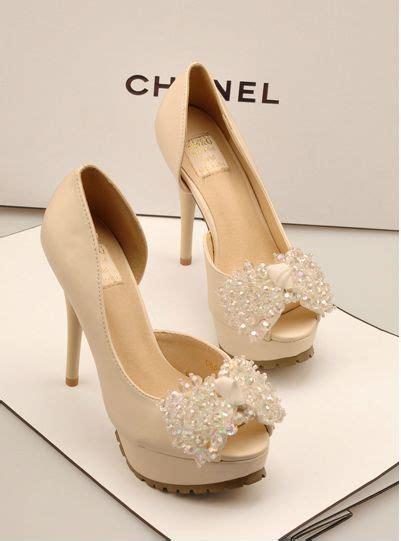 chanel high heeled wedding shoes pinkous