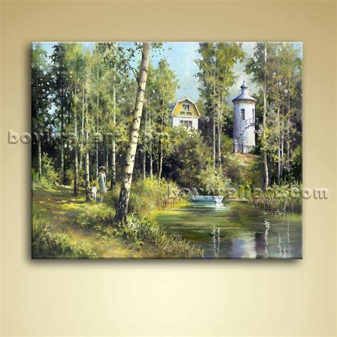 Landscape Pictures Canvas Classical Landscape Painting Picture Canvas Wall