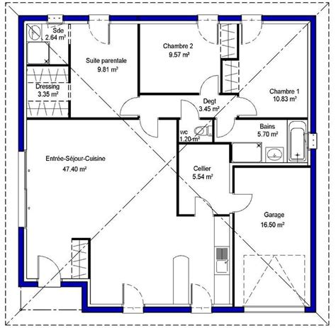 plan maison plein pied 4 chambres 25 best ideas about plan maison plein pied on