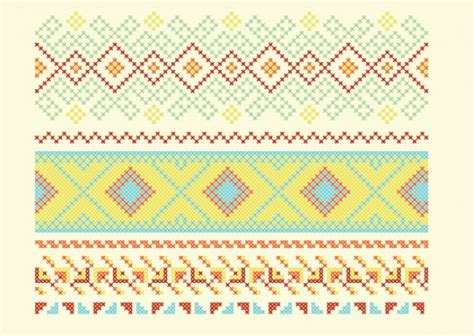 ai pattern cross geometric cross stitch decorations vector free download