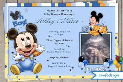 free mickey mouse baby shower invitation templates disney baby shower invitations templates theruntime