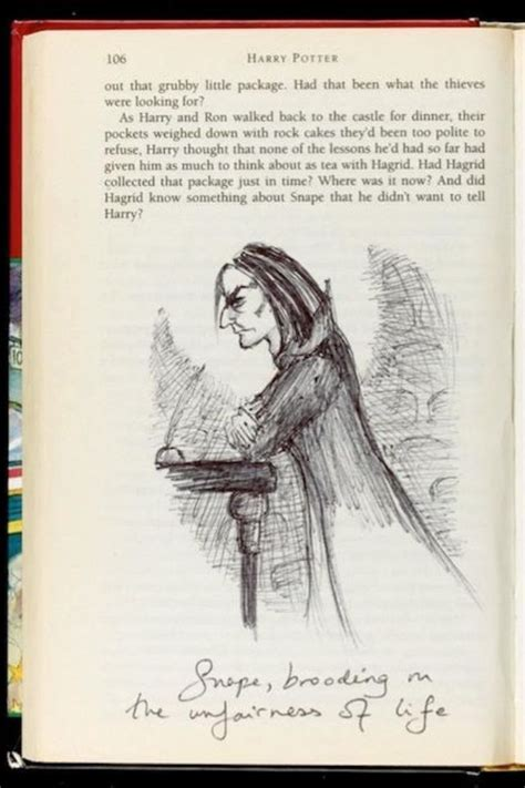 J K Rowling Sketches by J K Rowlings Original Sketch Of Snape Anything And