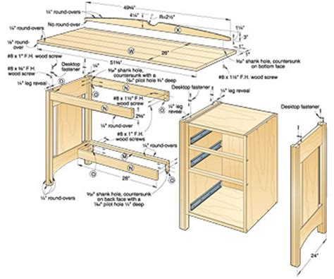 Woodwork Easy Build Your Own Computer Desk Plans Pdf Plans Plans For Office Desk