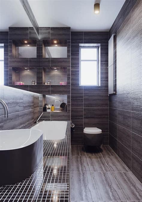 piastrelle nere per bagno bagni moderni piccoli ecco come arredarli con soluzioni
