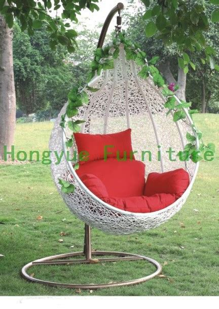 white rattan swing chair outdoor white rattan garden swing chair with cushions in