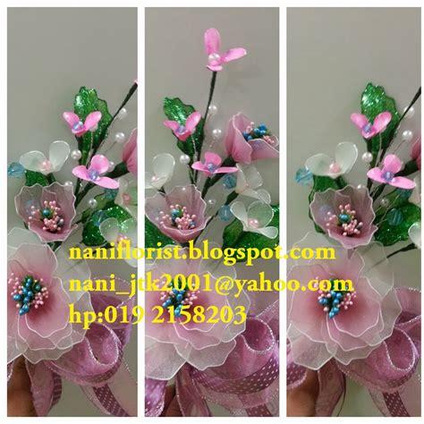 Kain Sifon Pink And Yellow nani florist bunga dulang bunga pahar dari kain stokin pink yellow