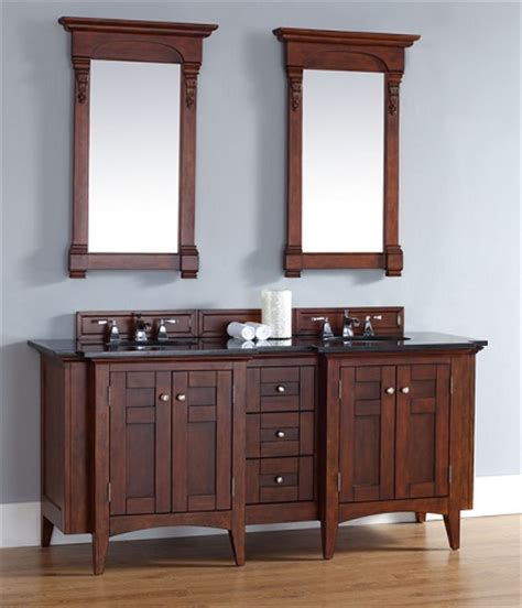 a fresh twist on shaker style bathroom vanities