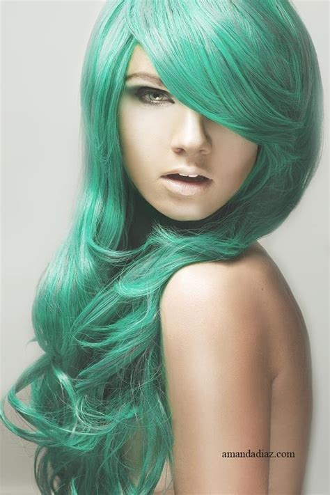 hairstyles color green this is my next hair color mint green hair pinterest