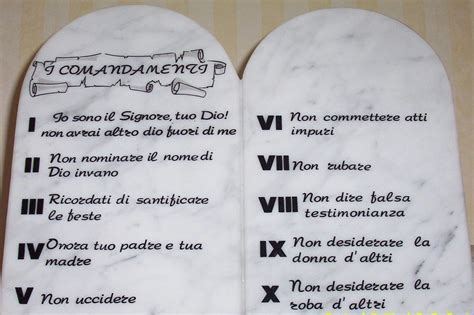 tavole dei 10 comandamenti gli italiani e i 10 comandamenti