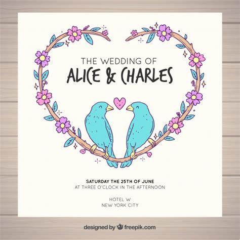 Wedding Card Vector Ai by Wedding Card Birds Design Vector Free