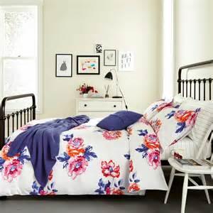 Flannel Duvet Cover Sets Joules Salcombe Floral Bedding In Deep Blue At Bedeck 1951