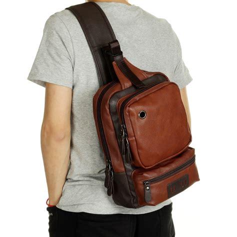 Tas Selempang Messenger Sling Bag Vintage Canvas Frank Bonjour new fashion messenger bags casual mens leather chest bags big chest back pack shoulder