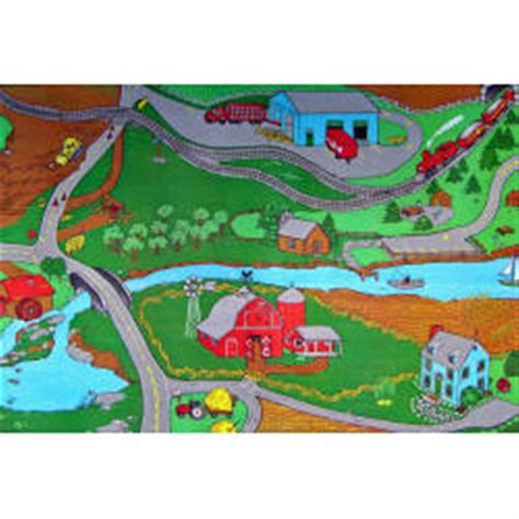 play rug custom printed rugs 36 quot x60 quot farm play rug 216679 rugs at sportsman s guide