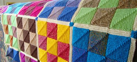 Knitting Patchwork - how do you make a knitted patchwork blanket stitching