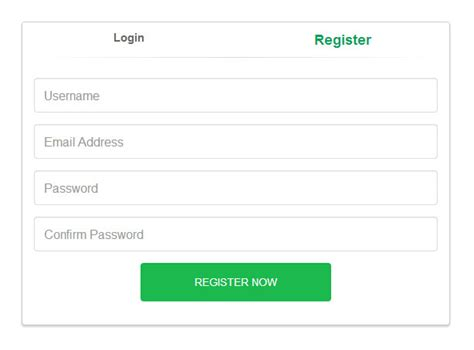 bootstrap templates for login and registration 8 free bootstrap signup registration form templates