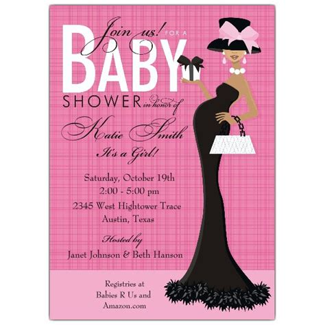 american themed party quotes glam mom african american girl shower invitations paperstyle