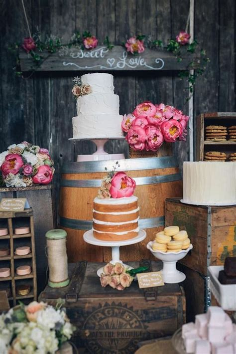 rustic wedding dessert table ideas wedding dessert table ideas modwedding