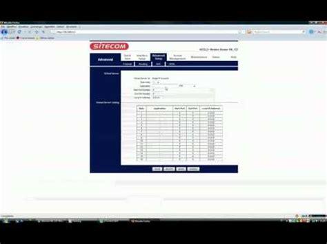 sbloccare porte router come sbloccare porte sitecom wl127 wireless network adsl