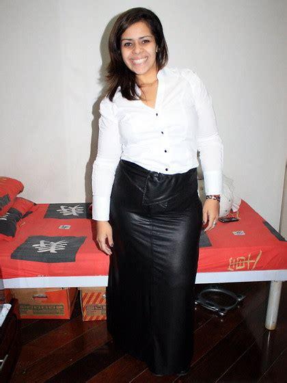leather skirt white blouse redskirtz