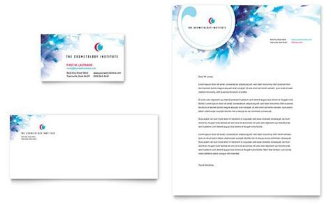 Free Letterhead And Business Card Templates by Cosmetology Business Card Letterhead Template By