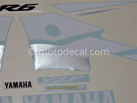 Yamaha R6 2003 Aufkleber by Yamaha Yzf R6 2003 Yellow Decal Kit By Motodecal
