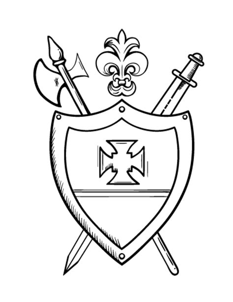 family crest coloring sheet coloring pages