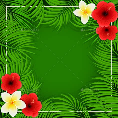 hawaiian powerpoint template hawaiian flowers on green background by losw graphicriver