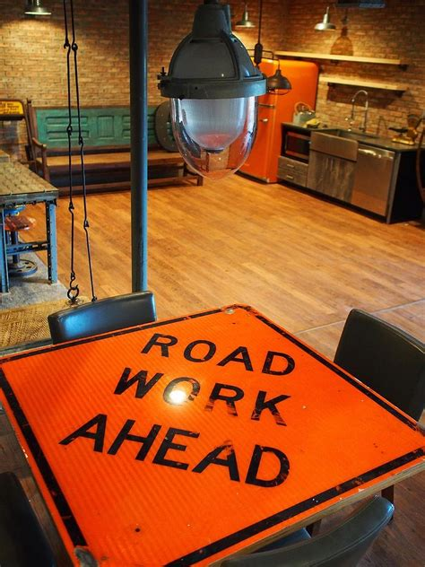 street smart style decorating  home  road signs