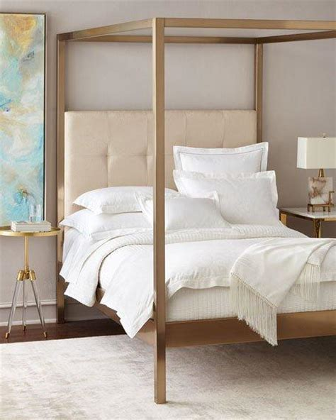 cream metal headboards metal frame cream linen headboard canopy bed