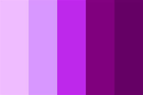 shades or purple shades of purple color palette