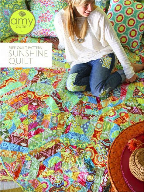 free patterns amy butler free amy butler sunshine quilt pattern crafts and