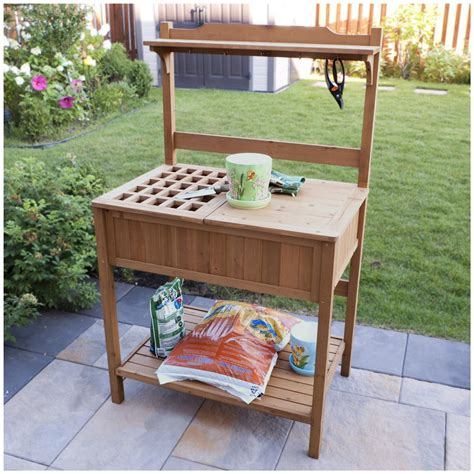 potting benches with storage merry products potting bench with storage 588468 patio