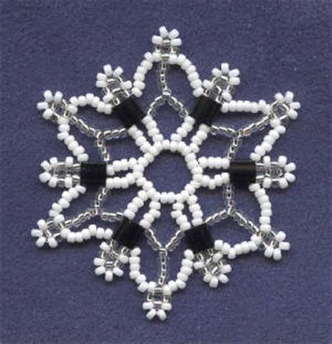 Beaded Pattern Snowflakes Free Patterns