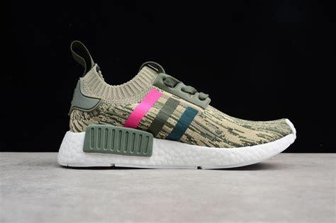 adidas nmd  primeknit pk camo japan green pink shoes