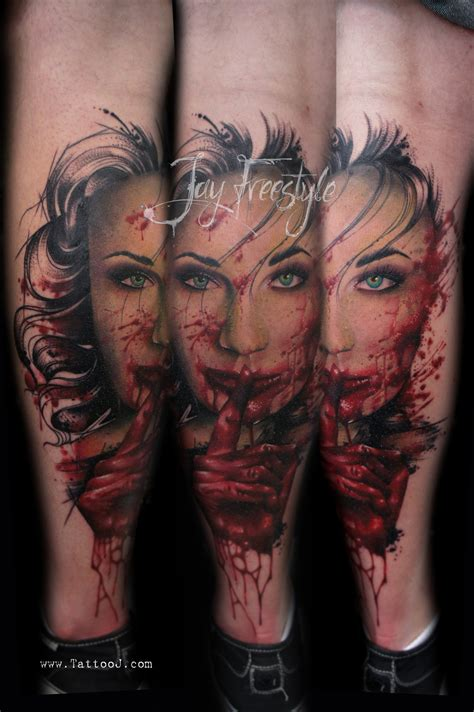 freestyle tattoo shhh freestyle by j on deviantart